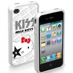 Бампер для iPhone 4/4S Hello Kitty Kiss (белый)