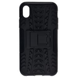 Пластиковый чехол для телефона skinBOX. Defender, для Apple iPhone XR, цвет черный