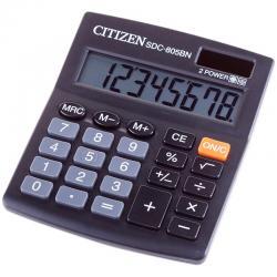 Калькулятор бухгалтерский Citizen SDC 805, 8 разрядов, черный