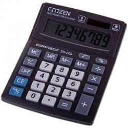 Калькулятор настольный CITIZEN Correct SD-208/CMB801BK, 8 разр, черный.