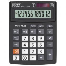 Калькулятор настольный STF-222, 12 разрядов, двойное питание, 138x103 мм