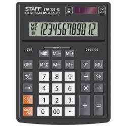 Калькулятор настольный STF-333, 12 разрядов, двойное питание, 200x154 мм