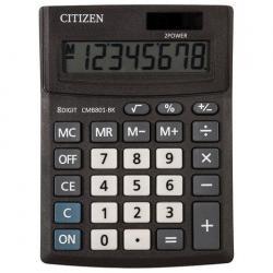 Калькулятор Business Line CMB801-BK, настольный, 8 разрядов, двойное питание, 100x136 мм