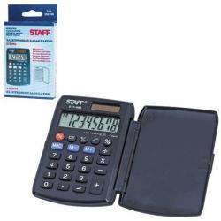 Калькулятор карманный Staff STF-883, 8 разрядов, двойное питание, 95х62 мм