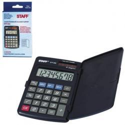 Калькулятор карманный Staff STF-899, 8 разрядов, двойное питание, 117х74 мм