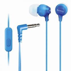 Наушники проводные Sony MDR-EX15LP, 120 см, вкладыши, стерео, голубые