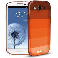 Чехол Rainbow для Samsung Galaxy S III (горизонтальные полосы, оранжевый)