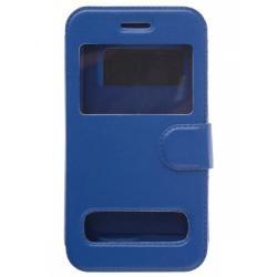 Чехол-книжка для телефона универсальный skinBOX. Silicone Sticker 4,5, цвет синий