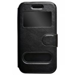 Чехол-книжка для телефона универсальный skinBOX. Silicone Sticker 5, цвет черный