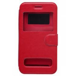 Чехол-книжка для телефона универсальный skinBOX. Silicone Sticker 4,0, цвет красный