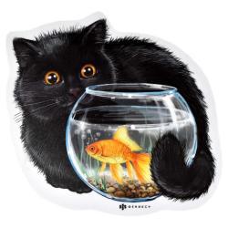 Коврик для компьютерной мыши Черный кот, 210x210 мм, 2 мм