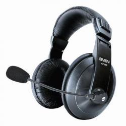 Наушники с микрофоном Sven AP-860MV, проводные, 2 метра, с оголовьем, черные
