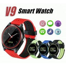 Умные часы Smart life V9, цвет чёрный, салатовый