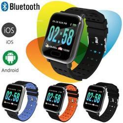 Умные часы Smart Bracelet A6, цвет голубой